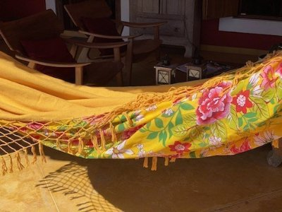 Rede de desanso Amarela em chita floral hh
