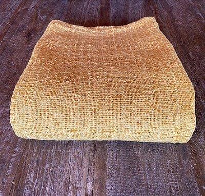 Manta para sofá amarela em Chenille