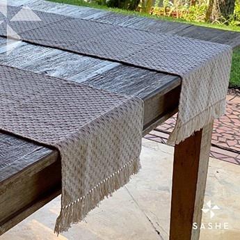 Conjunto de 3 Caminhos de mesa Algodão 0,33x1,95m