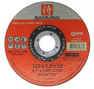 Disco de corte 1mm diametro 4.1/2