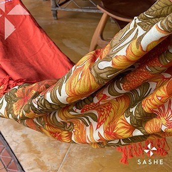 Rede de descanso Terracota em chita floral