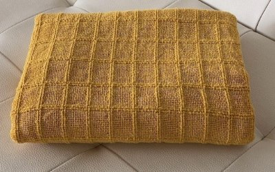 Manta Para Sofa E Cama Amarela Lena