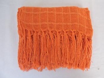 Manta Para sofá e cama laranja lena