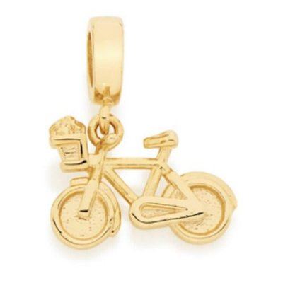 Pingente Folheado a ouro 18K Formato de Bicicleta