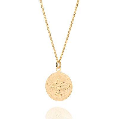 Pingente Folheado a ouro 18K Medalha do Espírito Santo
