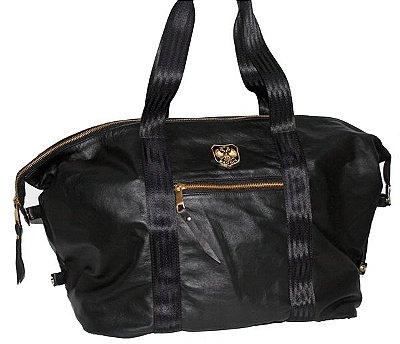 Bolsa Maxi Couro Luxo - Black