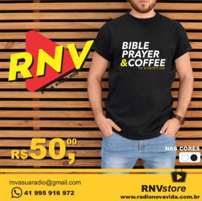 Camiseta Bible Prayer & Coffee RNV Store