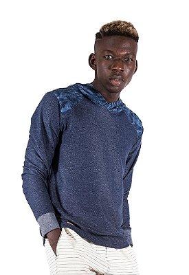 Blusa Capuz Camuflado Jeans