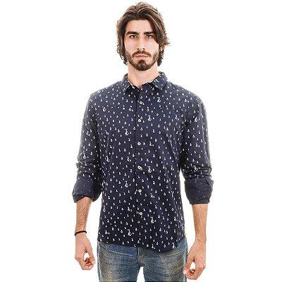 Camisa Azul Marinho Barcos