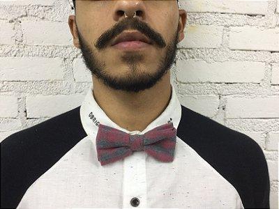 Gravata Borboleta Xadrez Vermelha