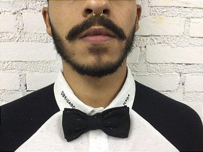 Gravata Borboleta Preta e Branca
