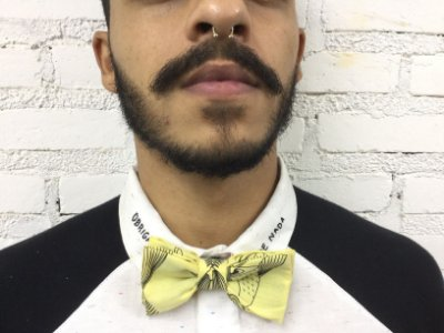 Gravata Borboleta Peixe Amarelo