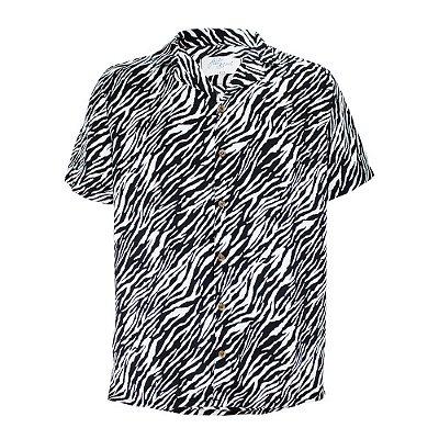Camisa Zebra Preto e Branco