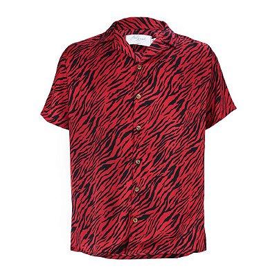 Camisa Zebra Vermelho e Preto