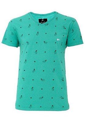 Camiseta Algodão Pin-up Verde