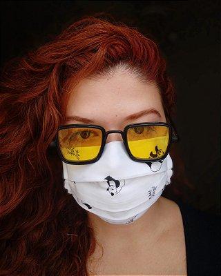Máscara de tecido panda