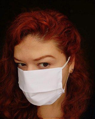 Máscara de tecido branca
