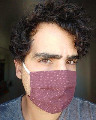 Máscara de tecido marsala