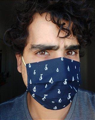 Máscara de tecido barcos
