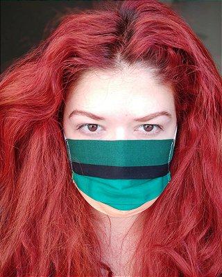 Máscara listrada color block