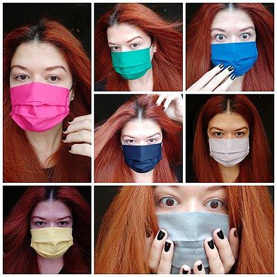 Kit 7 máscaras coloridas