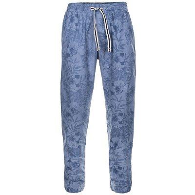 Calça Jogger Azul Jeans Floral Camuforest