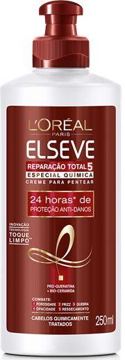 ELSEVE CREME PARA PENTEAR POS QUIMICA REPARAÇÃO TOTAL 5 250mL