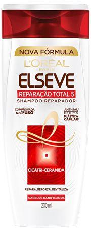 ELSEVE SHAMPOO REPARADOR REPARAÇÃO TOTAL 5 200mL