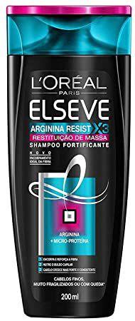 ELSEVE SHAMPOO RESTITUIÇÃO DE MASSA ARGININA RESIST X3 200ML