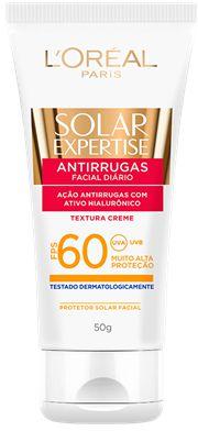 L'OREAL SOLAR EXPERTISE PROTETOR FACIAL ANTIRRUGAS FPS 60 50g