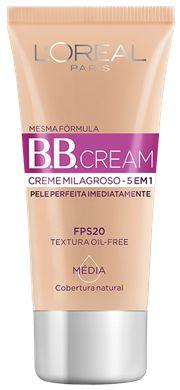 L'OREAL BB CREAM CREME MILAGROSO MEDIA FPS 20 30mL