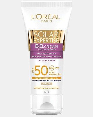 L'OREAL SOLAR EXPERTISE PROTETOR FACIAL BB CREAM FPS 50 COM COR 50g