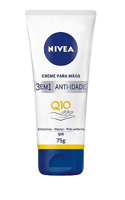 NIVEA CREME PARA MÃOS 3 EM 1 ANTI-IDADE Q10 75g
