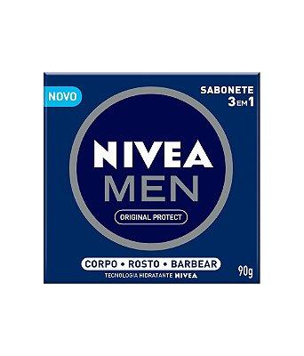 NIVEA MEN SABONETE 3 EM 1 ORIGINAL PROTECT 90g