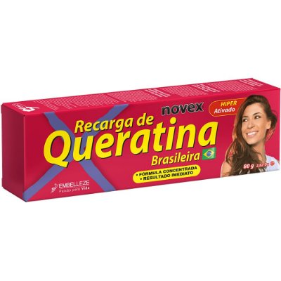 NOVEX RECARGA DE QUERATINA RECONSTRUÇÃO CAPILAR 80g