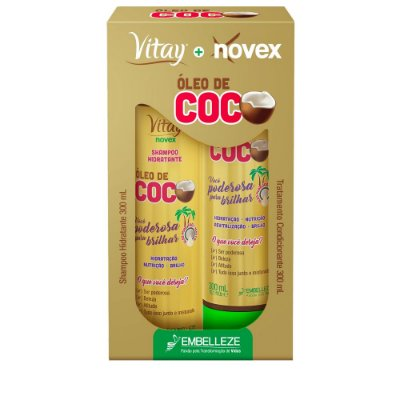 VITAY+NOVEX KIT ÓLEO DE COCO SHAMPOO + CONDICIONADOR 300mL