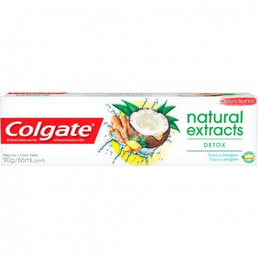 COLGATE CREME DENTAL NATURAL EXTRACTS DETOX COCO E GENGIBRE 90g