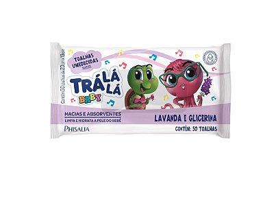 TRÁ LÁ LÁ BABY TOALHAS UMEDECIDAS LAVANDA E GLICERINA 50un