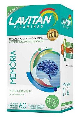 LAVITAN VITAMINAS MEMÓRIA SUPLEMENTO VITAMÍNICO 60 COMPRIMIDOS