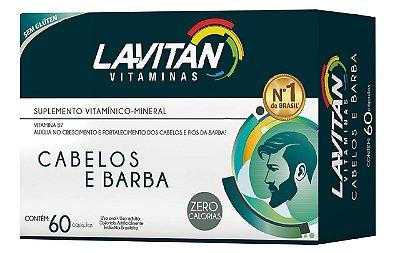 LAVITAN VITAMINAS CABELOS E BARBA SUPLEMENTO VITAMÍNICO 60 CÁPSULAS