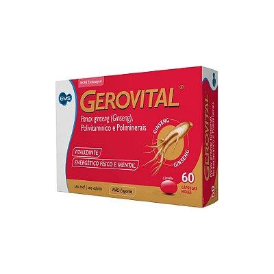 GEROVITAL PANAX GINSENG POLIVITAMÍNICO 60 CÁPSULAS