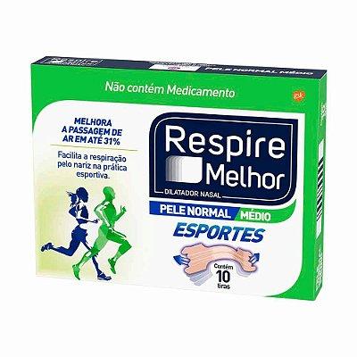 GSK DILATADOR NASAL RESPIRE MELHOR ESPORTES COM 10un