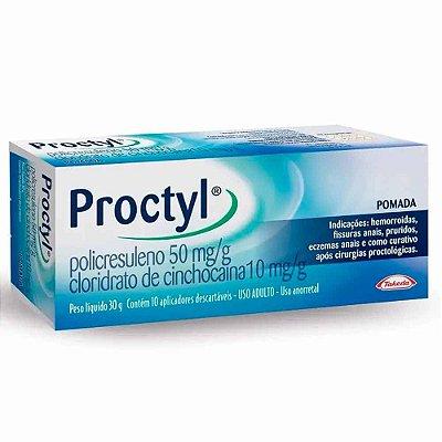 PROCTYL POMADA COM 10 APLICADORES 30g