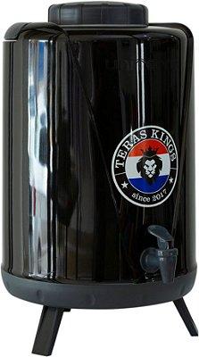 Botijão Térmico Preto - 10 Litros