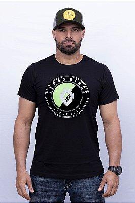 Camiseta Teras Kings Estampa Branco e Verde Neon