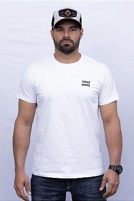 Camiseta Teras Kings Tradicional Branca/Azul Marinho