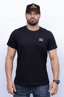 Camiseta Teras Kings Leão Tradicional Preta/Laranja