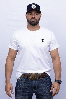 Camiseta Teras Kings TK Tradicional Branca/Azul Marinho