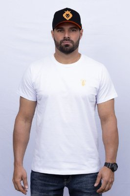 Camiseta Teras Kings TK Tradicional Branca/Laranja
