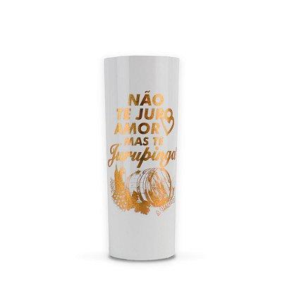 Copo Long Drink Holográfico Branco Dourado Jurupinga 269ml